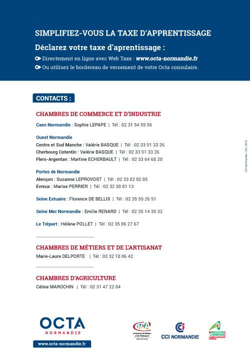 Octa normandie actualit s services en ligne accueil chambre de m tiers et de l 39 artisanat - Taxe pour frais de chambre de metiers ...